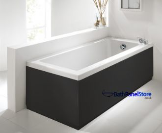 High Gloss Black Extra Height Bath Panels